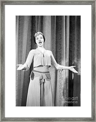 Jaye P. Morgan Framed Print by The Harrington Collection
