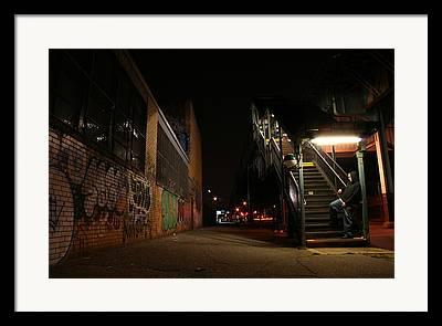 Graffiti Steps Framed Prints