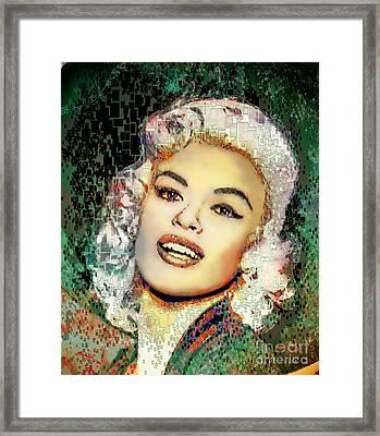 Jayne Mansfield - Pop Art Framed Print by Ian Gledhill