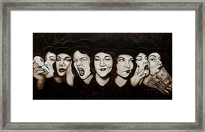 Jaynie Faces Her Seven Sins Framed Print by Al  Molina