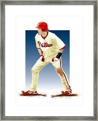 Jayson Werth Framed Print by Scott Weigner