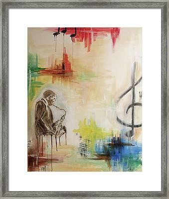 Jazz 002 Framed Print