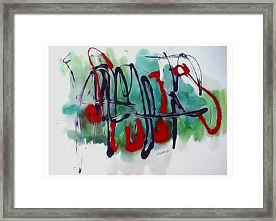 Jazz 2nd Series Painting 5 Framed Print by B L Qualls