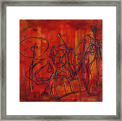 Jazz 47 Framed Print by Steve Park
