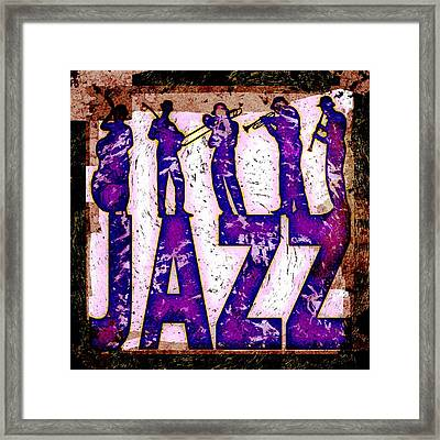 Jazz Abstract Framed Print by David G Paul
