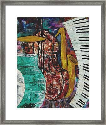 Jazz Framed Print by Andrea Vazquez-Davidson