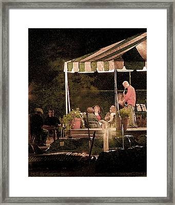 Jazz At The Boathouse Subdued Framed Print