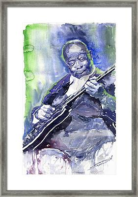 Jazz B B King 02 Framed Print