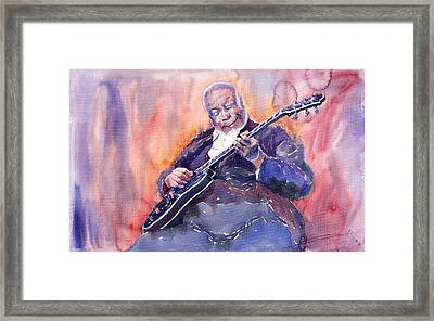 Jazz B.b. King 03 Framed Print by Yuriy  Shevchuk