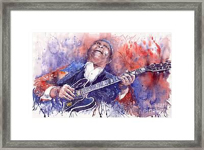 Jazz B B King 05 Red Framed Print by Yuriy  Shevchuk