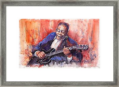 Jazz B B King 06 A Framed Print by Yuriy  Shevchuk