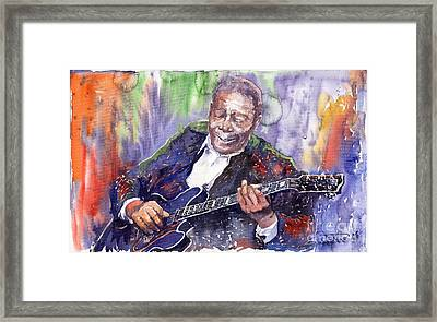 Jazz B B King 06 Framed Print by Yuriy  Shevchuk