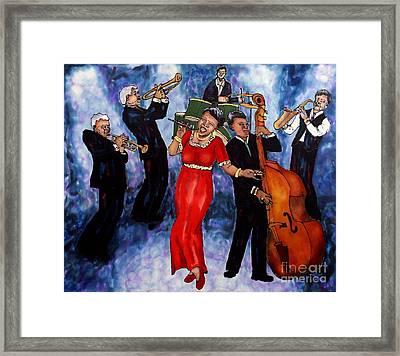 Jazz Band Framed Print by Linda Marcille