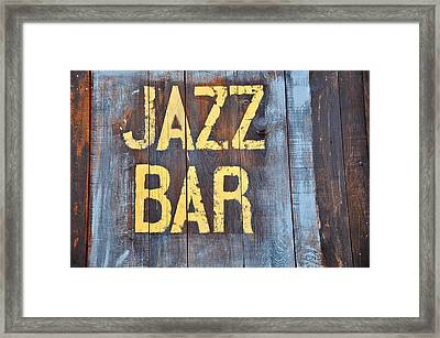 Jazz Bar Framed Print by Keith Sanders