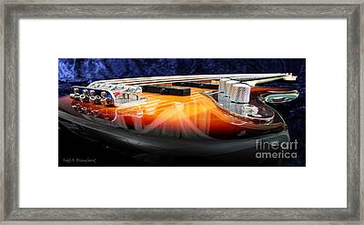 Jazz Bass Beauty Framed Print by Todd A Blanchard