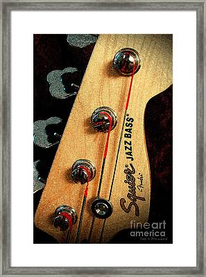 Jazz Bass Headstock Framed Print