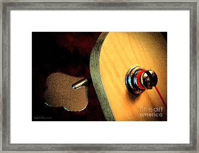 Jazz Bass Tuner Framed Print