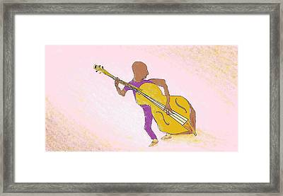 Jazz Bassist Framed Print by Jim Taylor