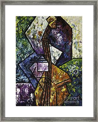 Jazz Bassist Framed Print by Kamil Swiatek