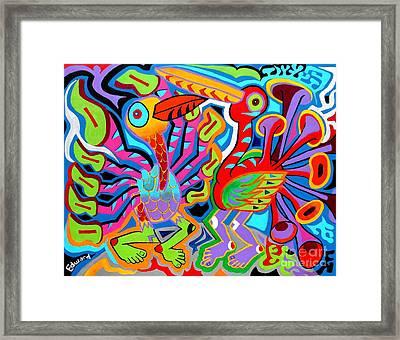 Jazz Birds Framed Print by Ed Tajchman