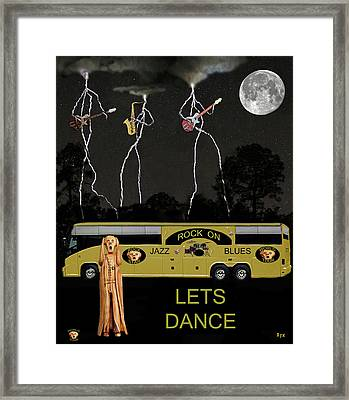 Jazz Blues Lets Dance Framed Print by Eric Kempson