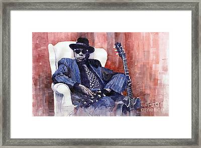 Jazz Bluesman John Lee Hooker 02 Framed Print