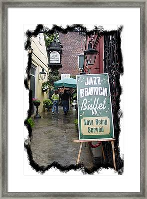Jazz Brunch Framed Print by Linda Kish