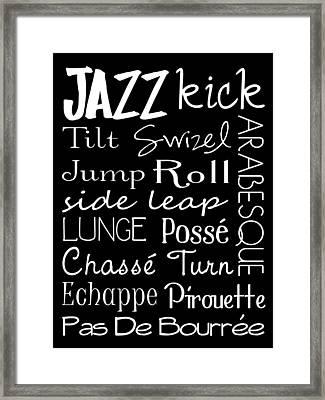 Jazz Dance Subway Art  Poster Framed Print