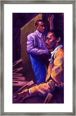 Jazz Framed Print by Ellen Dreibelbis