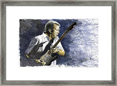 Jazz Eric Clapton 1 Framed Print by Yuriy  Shevchuk