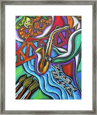 Jazz, Food And Art Festival Framed Print by Leon Zernitsky