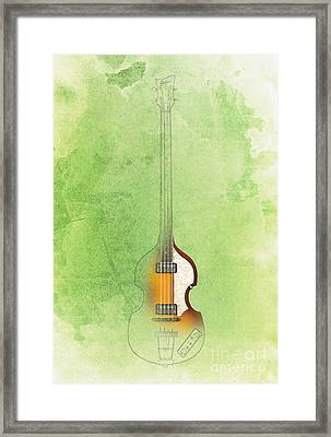 Jazz Green Bass Framed Print by Pablo Franchi