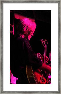 Framed Print featuring the photograph Jazz Guitarist by Lori Seaman