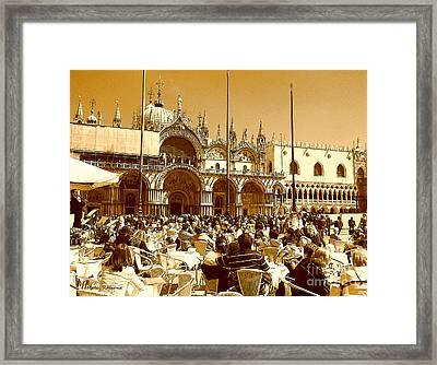 Jazz In Piazza San Marco Framed Print
