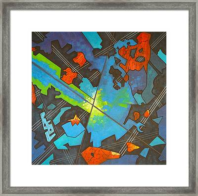 Jazz Intersection Framed Print by Diana Perfect