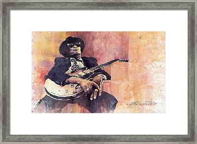 Jazz John Lee Hooker Framed Print by Yuriy  Shevchuk