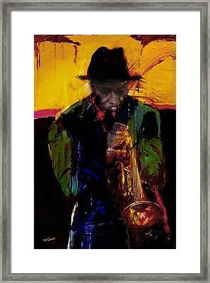 Jazz Man 3 Framed Print by James VerDoorn