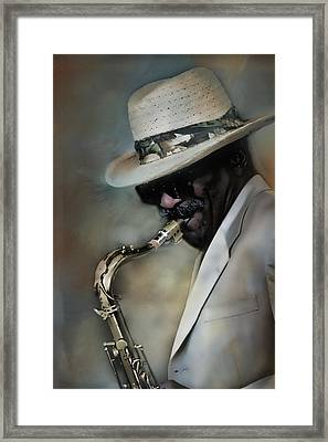 Jazz Man Framed Print by Ann Bridges