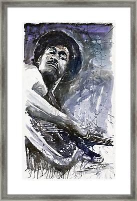 Jazz Marcus Miller 01 Framed Print by Yuriy  Shevchuk