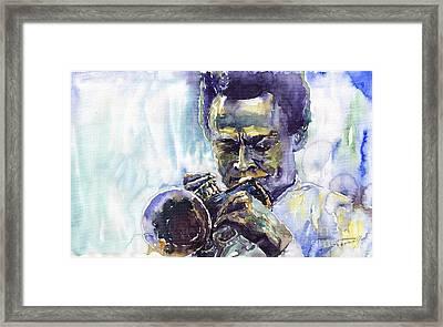 Jazz Miles Davis 10 Framed Print by Yuriy  Shevchuk