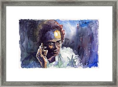 Jazz Miles Davis 11 Framed Print by Yuriy  Shevchuk