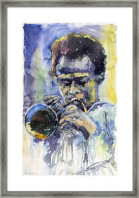 Jazz Miles Davis 12 Framed Print by Yuriy  Shevchuk