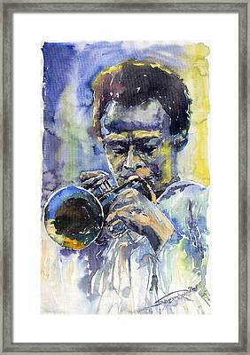 Jazz Miles Davis 12 Framed Print