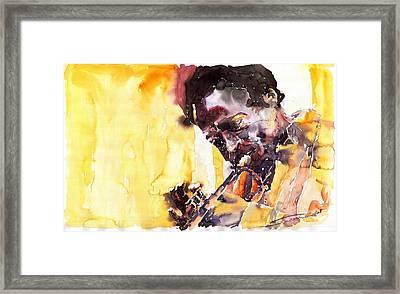 Jazz Miles Davis 6 Framed Print by Yuriy  Shevchuk