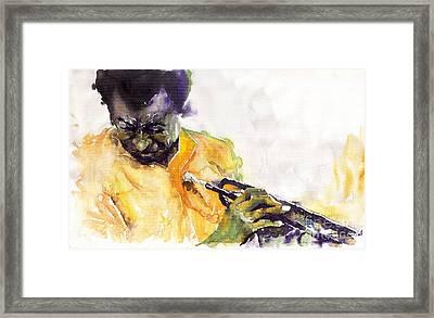 Jazz Miles Davis 7 Framed Print by Yuriy  Shevchuk