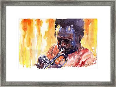 Jazz Miles Davis 8 Framed Print