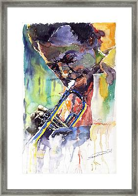 Jazz Miles Davis 9 Blue Framed Print