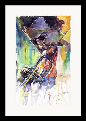 Trumpeter Framed Prints