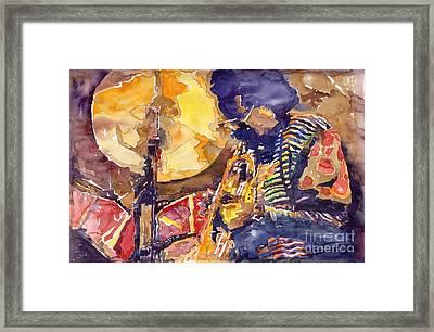 Jazz Miles Davis Electric 2 Framed Print by Yuriy  Shevchuk