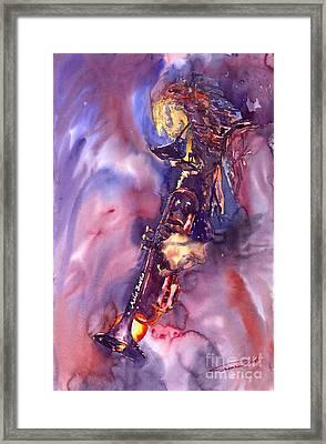 Jazz Miles Davis Electric 3 Framed Print by Yuriy  Shevchuk